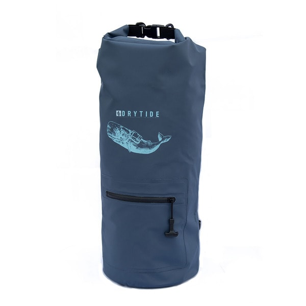 30 liter dry bag blue with external pocket