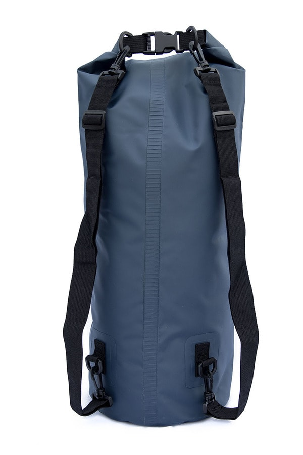 30 liter dry bag back side with shoulder straps