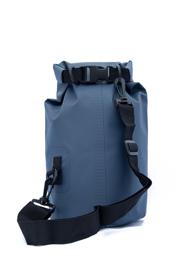 5 liter dry bag blue back side