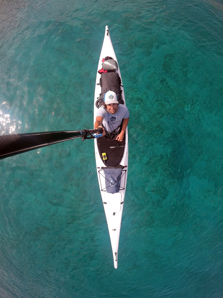 Sea kayak from above