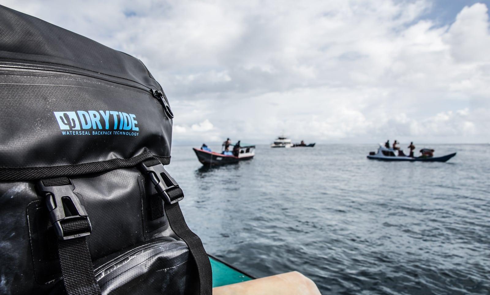 Waterproof backpack in the lineup in Indonesia